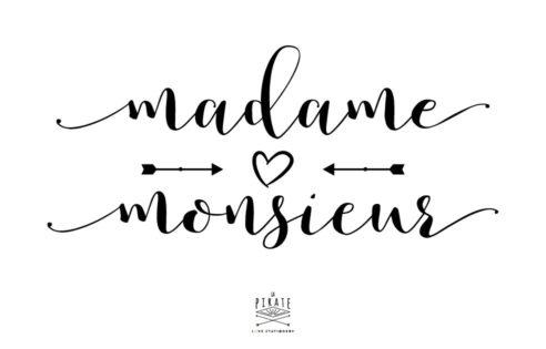 Stickers mariage - Monsieur Madame