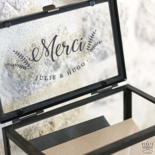 Stickers Urne Mariage Merci - Mariage Hiver