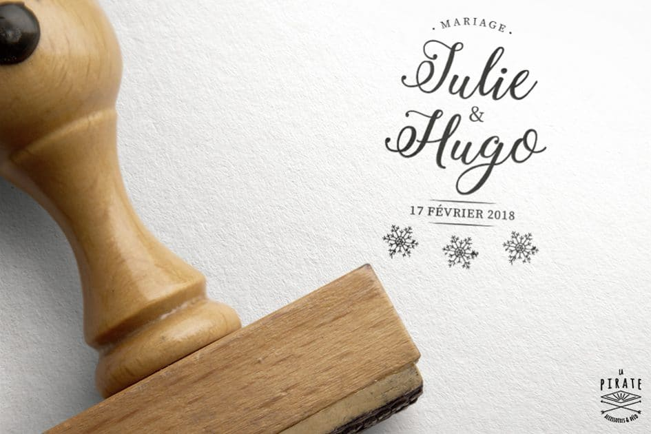 Tampon Mariage Hiver - Winter Romance