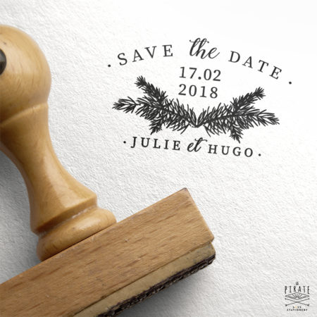 Tampon Mariage Save The Date Hiver - Collection Winter Romance