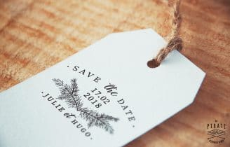 Tampon Mariage Save The Date Hiver – Collection Winter Romance