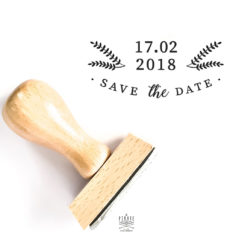 Tampon Save The Date mariage Hiver à personnaliser