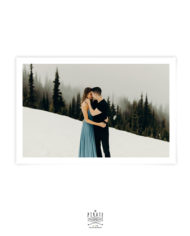 Carte remerciements mariage en hiver avec photo