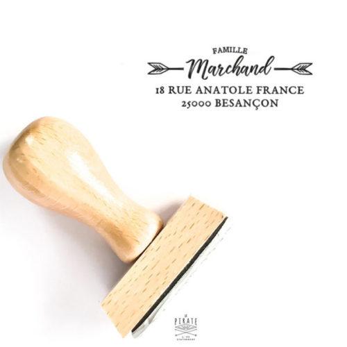 Tampon adresse personnalisé avec l'adresse de votre famille. tampon adresse en bois vintage - La Pirate