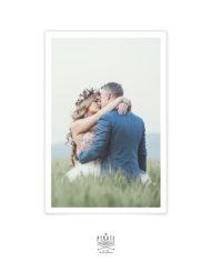 Carte remerciements mariage vintage avec photo personnalisée