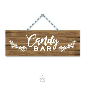 Stickers Candy Bar Mariage Folk - La Pirate