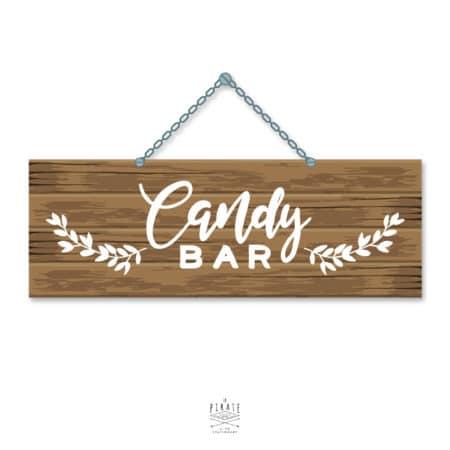 Stickers Candy Bar Mariage Folk - La Pirate