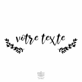 Stickers texte personnalise - modele 1