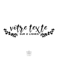 Stickers texte personnalise – modele 3