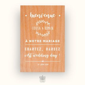 Stickers Bienvenue au mariage Champêtre - Couronne d'Olivier - La Pirate