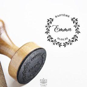 Tampon Baptême Couronne Champêtre - La Pirate