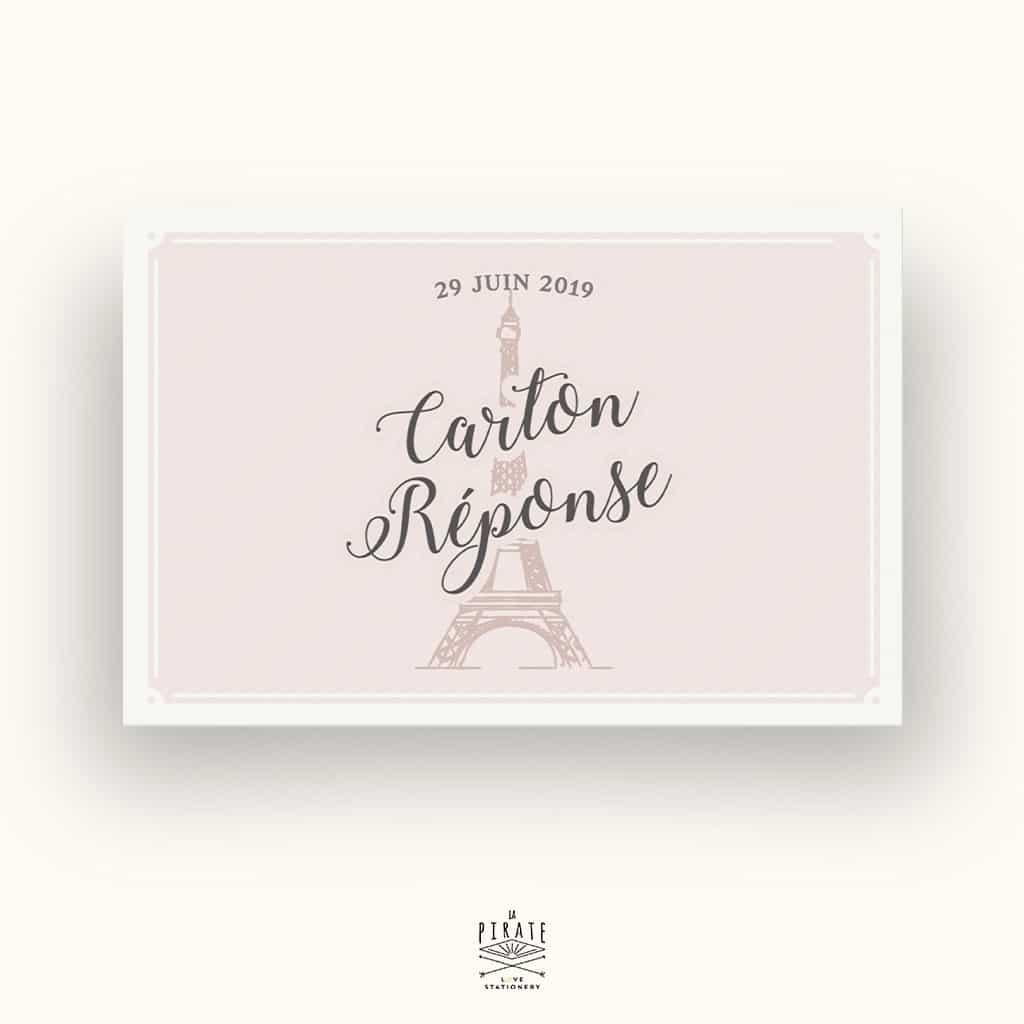RSVP Mariage Tour Eiffel, Mariage rétro chic - La Pirate