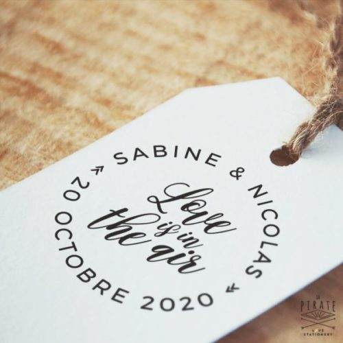 Tampon Mariage Love is in the air - Mariage Vintage - La Pirate