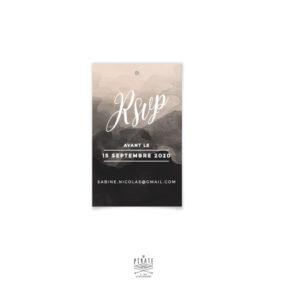 RSVP aquarelle mariage - Love is in the air - Carton réponse personnalisé pour votre mariage - La Pirate