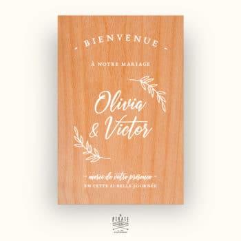 Stickers Bienvenue mariage fines branches - Mariage champêtre - La Pirate