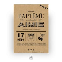 Faire-part baptême original à personnaliser en ligne - la pirate