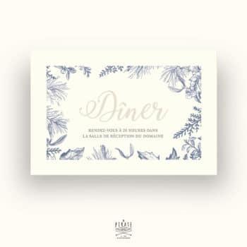 Invitation repas mariage hiver - La Pirate