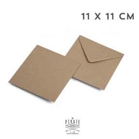 Enveloppes Kraft 11x11 cm, papier kraft recyclé - La Pirate