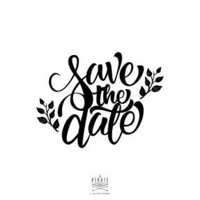 Tampon Save the date, pour scrapbooking et diy mariage. Save the date thème champêtre - La Pirate