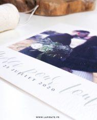 Carte remerciements photo, végétale papier rive