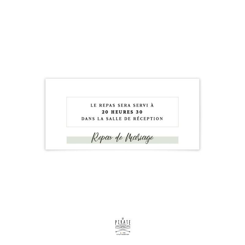 Invitation Repas Mariage Végétal Thème Minimaliste