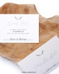 invitation repas mariage végétal