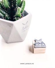 Tampon merci mariage minimaliste, végétal