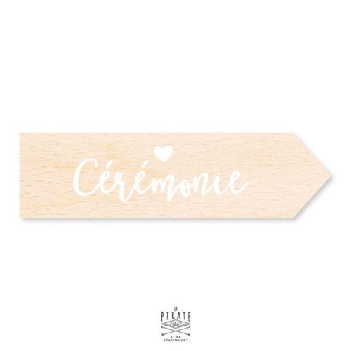 Flèche bois cérémonie, flèche bois mariage coeur personnalisée pour votre panneau mariage bohème
