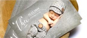 Personnalisez la papeterie de naissance de bébé en ligne. Découvrez nos modèles originaux faire-part avec photo, minimaliste, ...