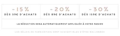 Soldes hiver 2019 La Pirate, Réduction jusqu'à -30% sur vos achats mariage, naissance ...