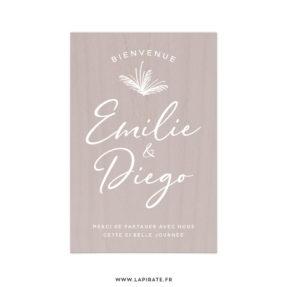 Stickers bienvenue mariage pampa, personnalisé pour votre mariage bohème