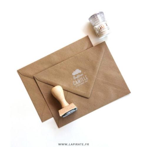 tampon baptême nuage personnalisé pour votre déco et papeterie