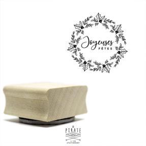 """Tampon couronne de Noël """"Joyeuses fêtes"""", tampon DIY/packaging esprit de Noël"""