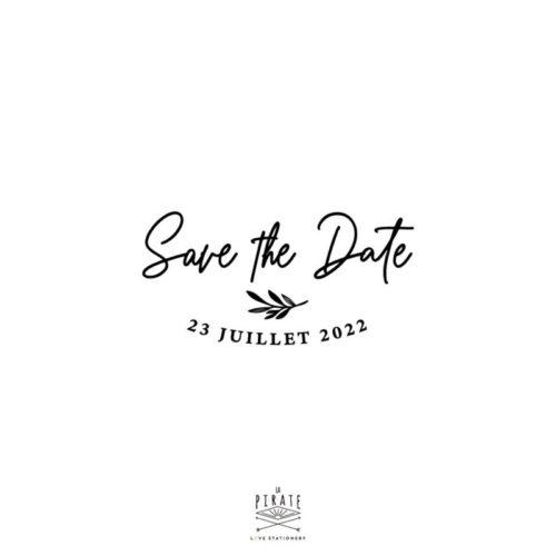 Tampon save the date calligraphie, personnalisé, tampon encreur