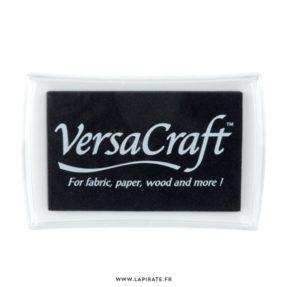 Encreur tissu Versacraft noire, encre spéciale textile, bois, papier, cuir