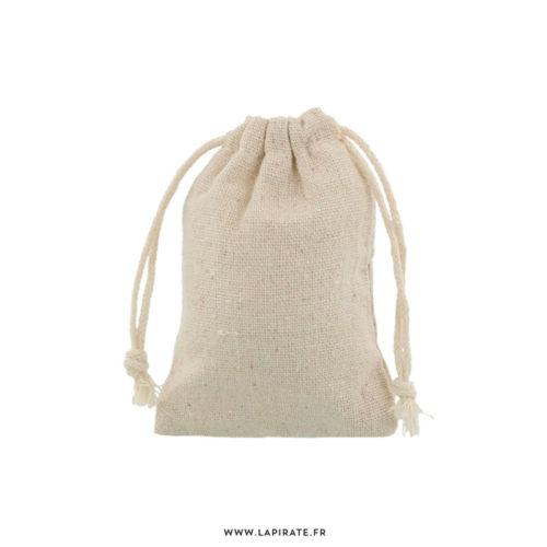Pochons en lin naturel, idéal pour vos cadeaux invités mariage, dragées baptême