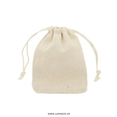 Pochons en lin naturel, idéal pour vos cadeaux invités mariage, dragées baptême - 7 x 10 cm