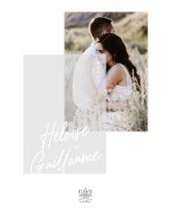 Carte remerciements mariage photo, calque et calligraphie impression blanc, collection Rosie, mariage élégant à superposer, mariage élégant