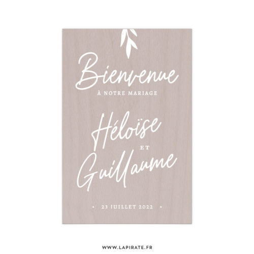 Stickers bienvenue calligraphie, personnalisé - Autocollant lettrage pour décorer votre panneau de bienvenue mariage