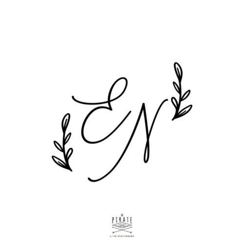 Stickers initiales boite à alliances bloom, champêtre