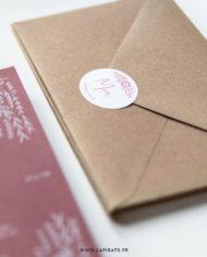 Stickers naissance scandinave, personnalisé. Thème naissance folk, floral, mixte