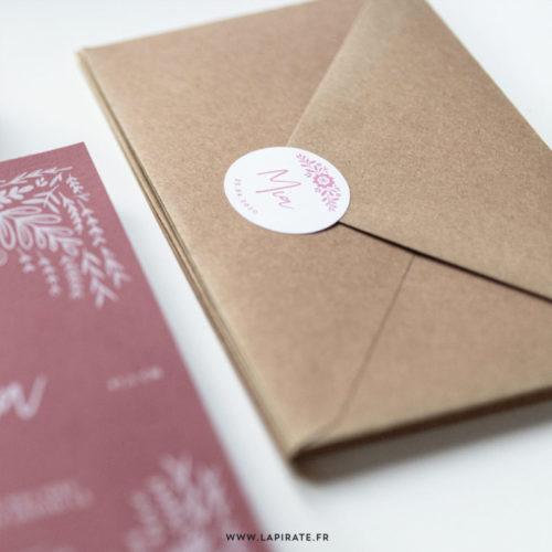 Stickers naissance scandinave, personnalisé. Thème naissance folk, floral