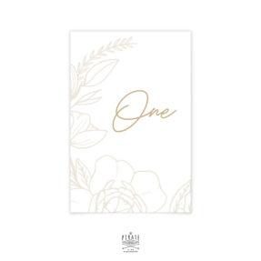 Numéro de table mariage folk bohème, floral Kamélia - La Pirate