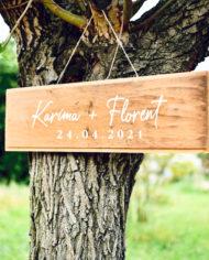 Stickers prénoms et date mariage personnalisé manuscrit, panneau bois mariage, texte personnalisé pour vos DIY mariage