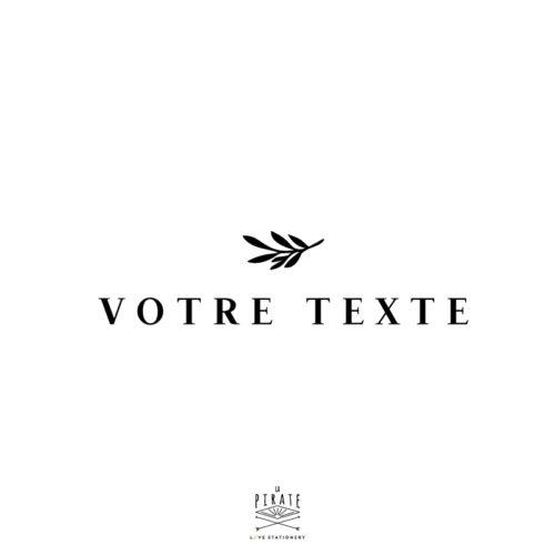 Stickers texte personnalisé, motif végétal, stickers directionnel mariage - Modèle 1