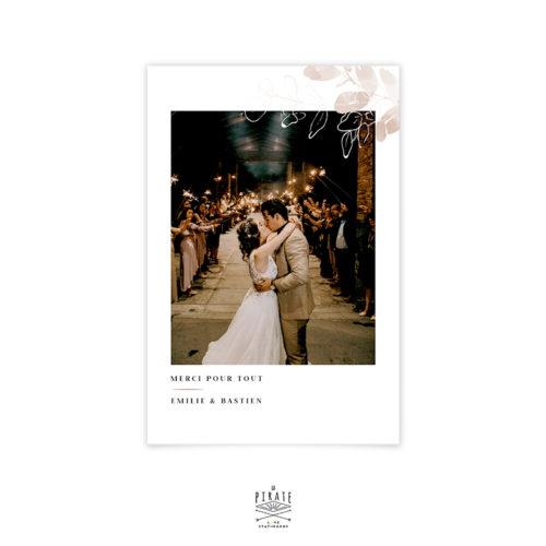 Carte remerciements photo, esprit polaroid automnal - Collection Sienne