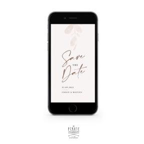 Save the date mariage automne eucalyptus, bohème - version digitale   Collection Sienne
