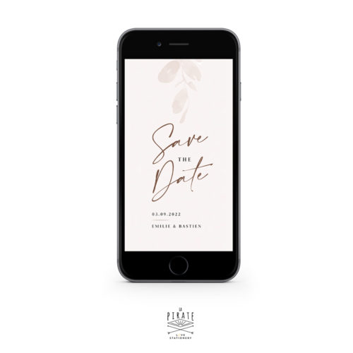 Save the date mariage automne eucalyptus, bohème - version digitale | Collection Sienne