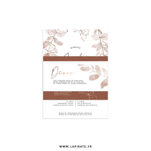 Ensemble mariage eucalyptus automne cuivre, terracotta - Collection Sienne