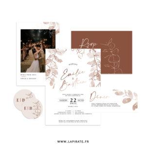 Papeterie mariage Sienne, automnale et bohème - Eucaluyptus